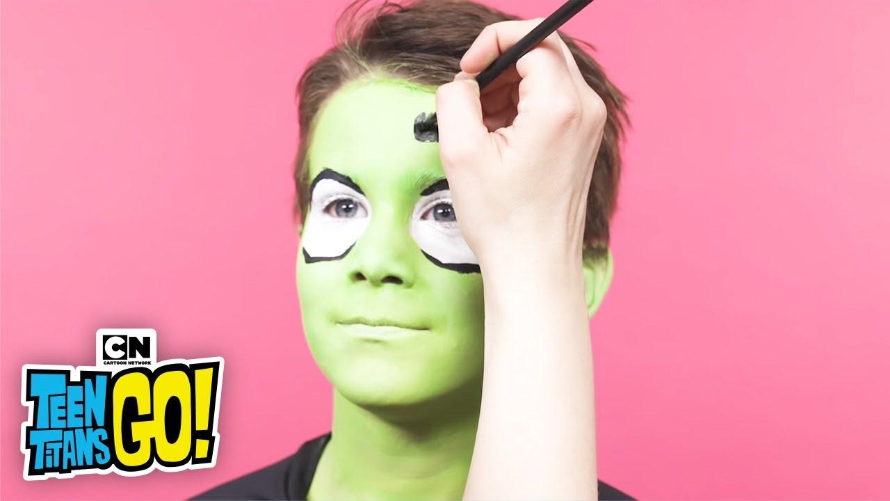 Teen Titans Go Beast Boy Face Painting Lets Create Youtube