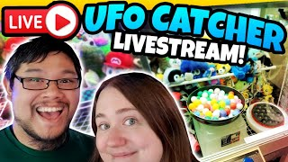 LIVE UFO Catcher Claw Machine games! Live Stream with Dragon Claw Games!