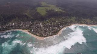 Birthday helicopter ride Oahu 2017 with Novictor Helicopters