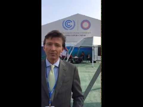 D66-Europarlementarier Gerben-Jan Gerbrandy op klimaattop Lima