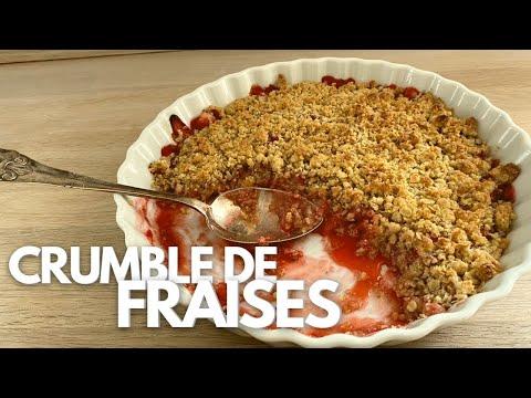 crumble-croustillant-aux-fraises-fraîches---dessert-d'été---recette-#232