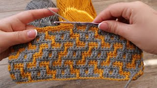 Мозаичная техника вязания крючком 🦊 Mosaic crochet patterns 😘