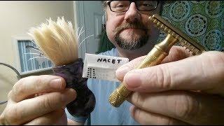 Just a Shave: Gillette NEW de Luxe 17mm - Gillette Nacet (67) - Williams - WD Boar 24