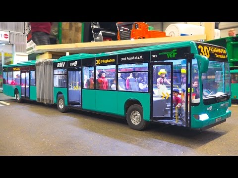 STUNNING RC SCALE MODEL BUSES IN MOTION!! *RC BUS MERCEDES-BENZ*RC MODEL BUS MB