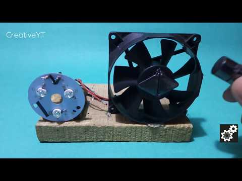 Free energy generator fan computer using motor 12V - Free