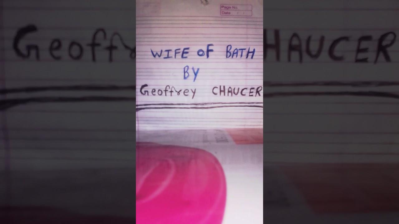 Of the baths pdf wife tale