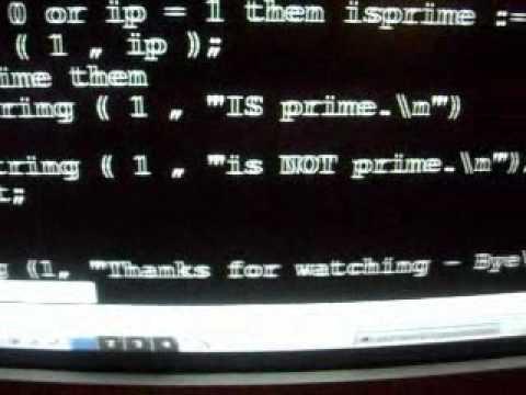 ALGOL 60 program identifying prime numbers