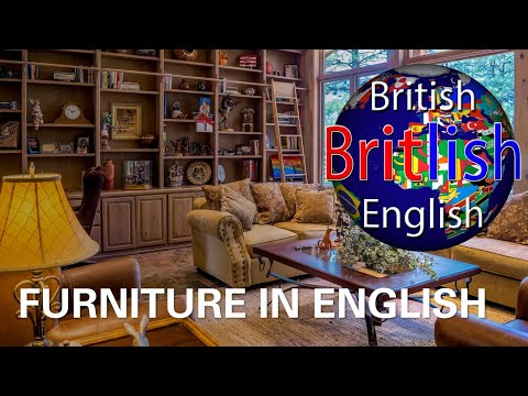 British English Vocabulary and Pronunciation of Furniture - Learn English
