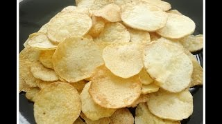 Chembu Upperi / Taro Root Chips- Chinnuz' I Love My Kerala Food
