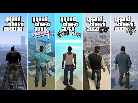 Comparison of Jumping From the Highest Points in GTA Games