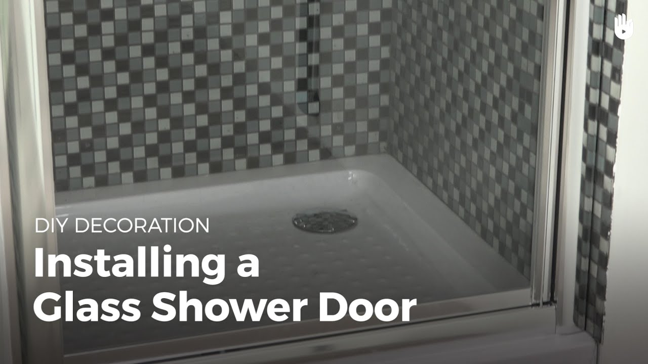 how to install a glass shower door diy projects