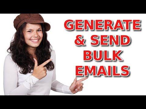 Bulk Email Sender⚠️How to Generate & Send BULK Emails⚠️