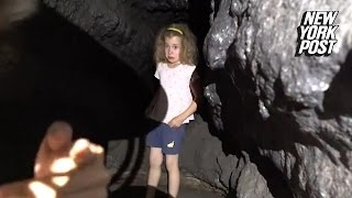 Bros exploring a cave discover lost little girl hiding in the darkness