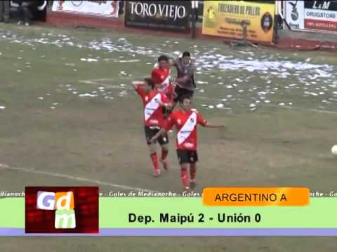 Goles de Lucas Gamba (Deportivo Maipu Mza) ante Unión de MdP