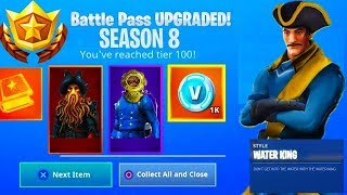 *NEW* Fortnite Season 8 Battle Pass Leaked! - Season 8 Skins & Rewards