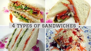 4 Best Sandwiches || Kids Lunch Box Recipe || Sandwiches Recipe For Kids By Ayesha
