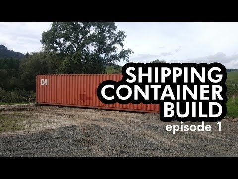 Shipping Container Bike Shop & Cafe Build Episode 1 | Foundation & Delivery