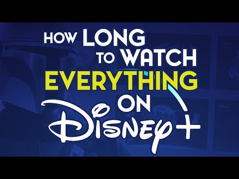 How Long Would It Take To Watch EVERYTHING on Disney Plus? (Launch Day)
