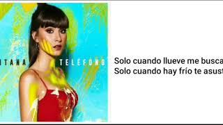 Aitana Ocaña - teléfono (letra)