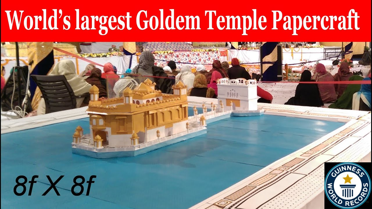 Papercraft golden temple paper model making by C&C