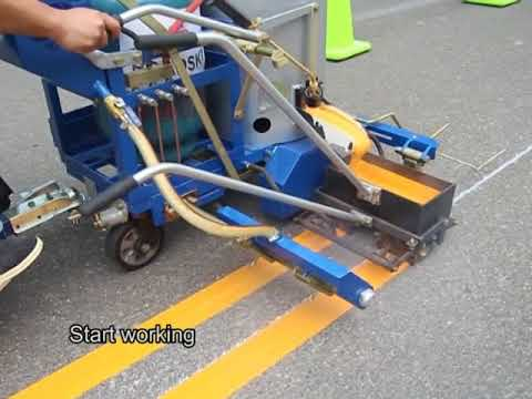 Doubl Line Marking with RS-1 Road Marking Machine