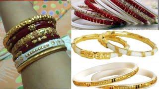 Gold sakha pola bangels design //gold jewellery design for wedding