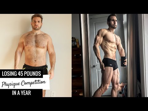 One Year 45lb Weight Loss Transformation & Physique Competition