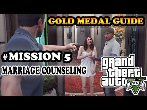 """GTA V Mission 5 """"Marriage Counseling"""" 100% Gold Medal Guide Bahasa Indonesia"""