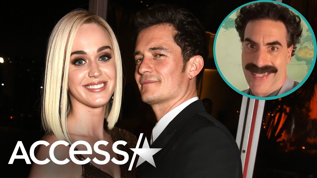 Orlando Bloom Surprises Katy Perry w/ Birthday Video From Borat