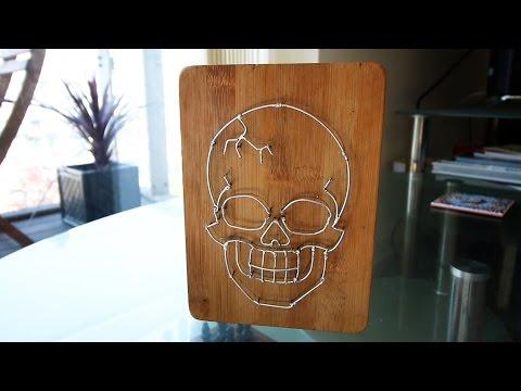 Wire Skull Sculpture!