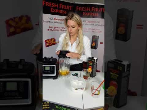 Fresh Fruit Express Bereiding Cocktail Basis Blender Nederlands