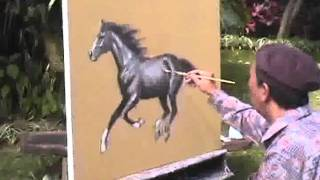 Horse Painting Demonstration part 02