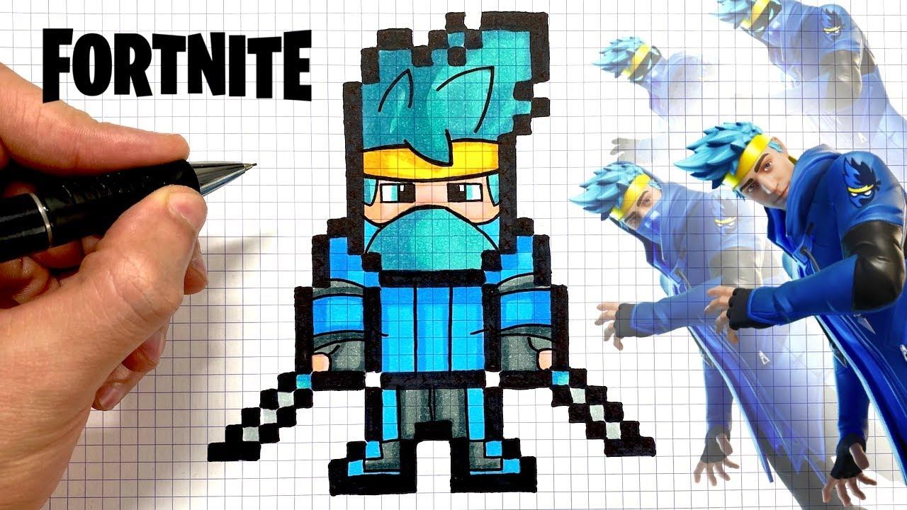 Dessin Pixel Fortnite Facile Tuto Dessin Ninja Pixel Art Skin Fortnite Youtube