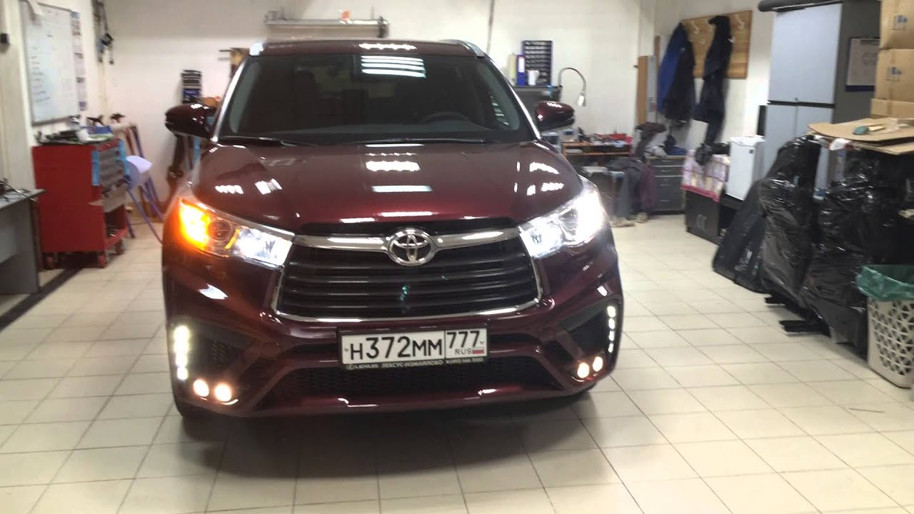 Led Drl And Turn Signal In Head Lamp Toyota Highlander