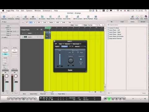 Logic Pro Tutorial - Tech Tip 24 - Voice Cancelling (remove vocal) trick