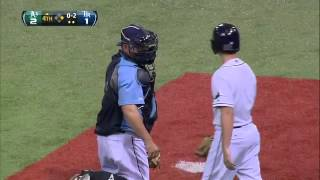 2012/05/05 Ballboy saves bullpen catcher