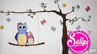 Sallys DIY Ideen: Kinderzimmer Bemalung / Eulenmotiv