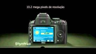 Submarino.com.br l Câmera Digital D3000 da Nikon kit lente VR 18-55mm