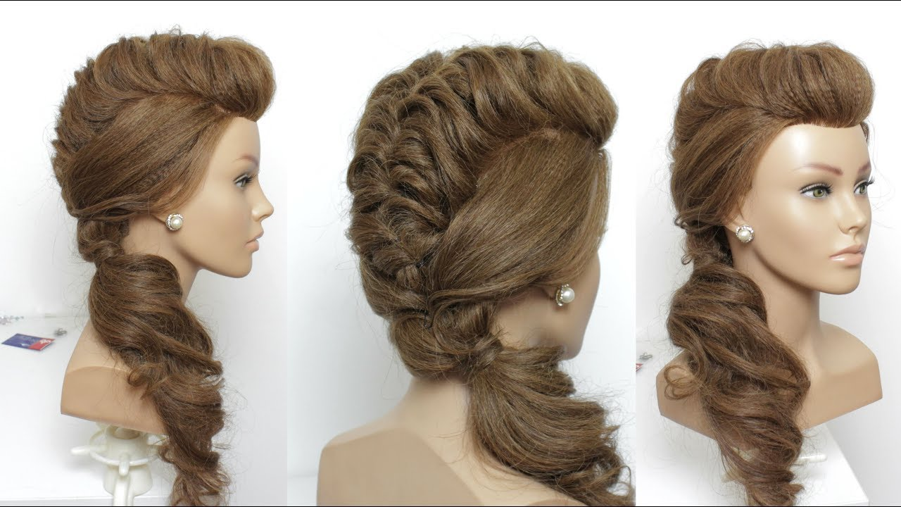 Long Hair Side Ponytail Updos Hair Color Ideas And Styles