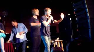 Nick m and brok doing the kevin In it to Win it backstreet boys cruise 2011