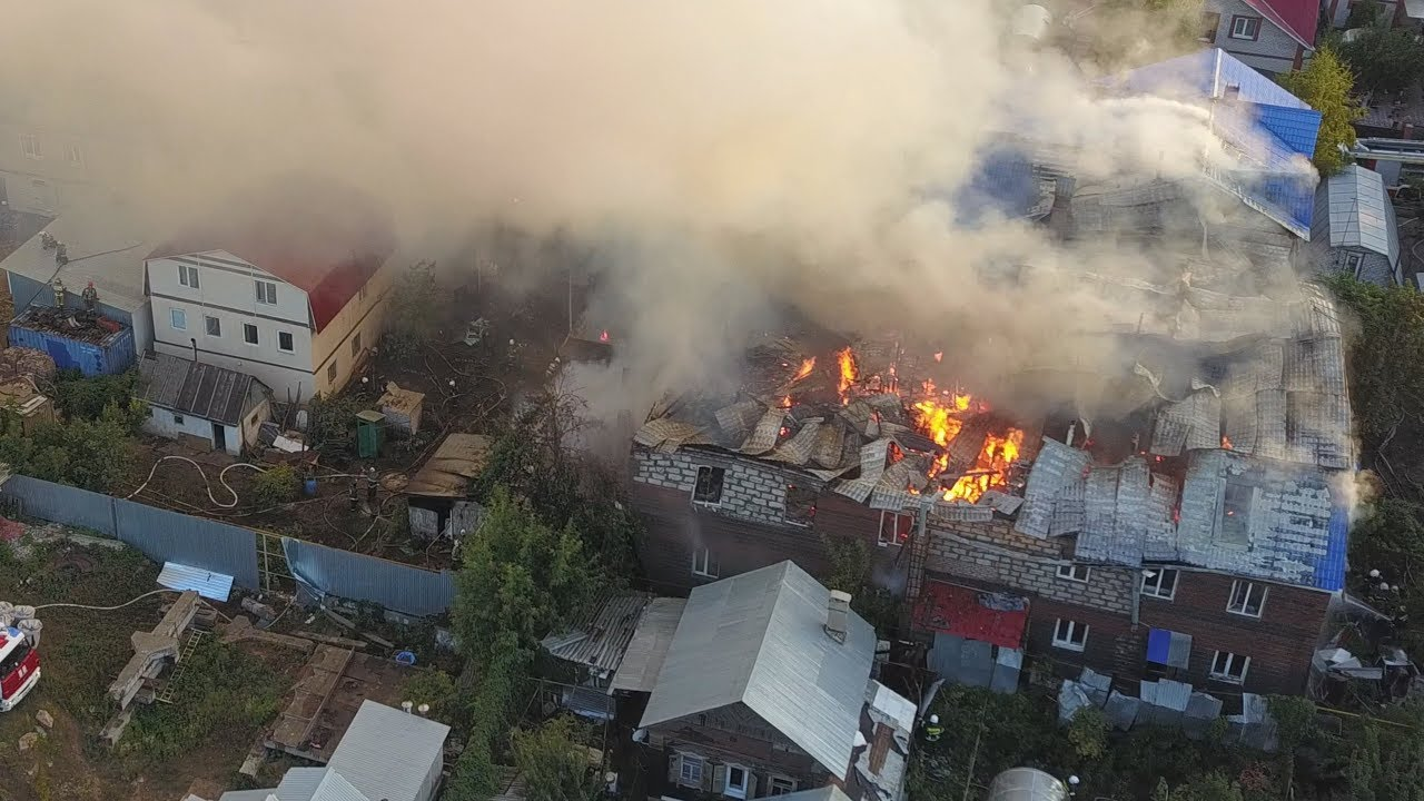Крупный пожар в Самаре