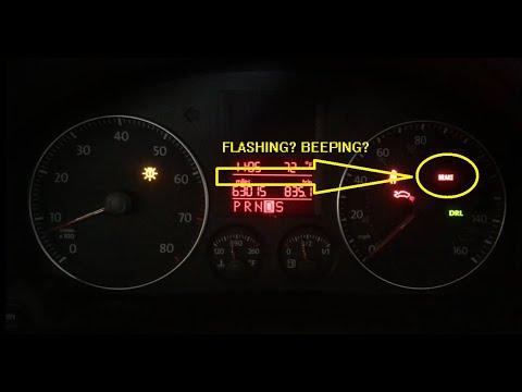 Brake Light Flashing And Beeping Volkswagen Jetta Golf Passat