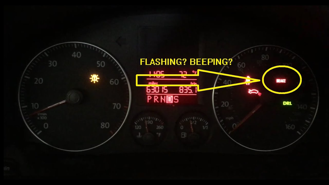 hight resolution of brake light flashing and beeping volkswagen jetta golf passat