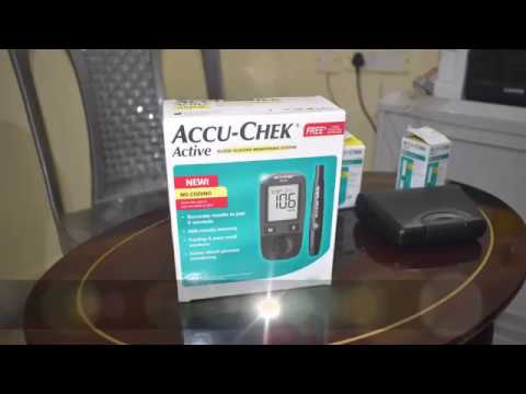Accu Check Active Blood Glucose Monitor Review In Telugu By Supersravz