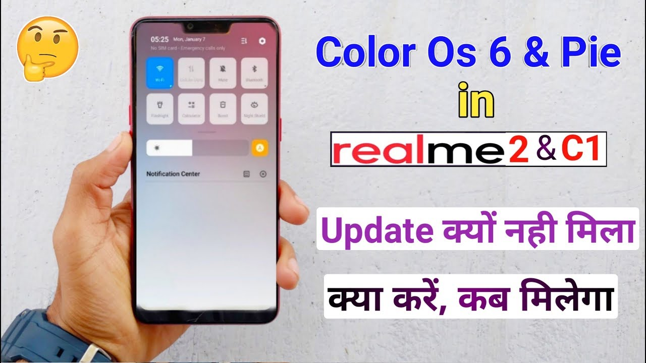 Color Os 6 & Android Pie Update Not Received in RealMe 2 & C1, Why