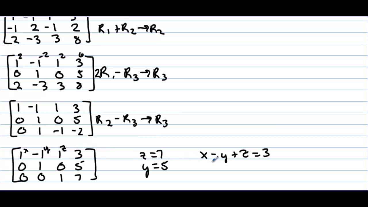 Honors Precalculus Section 6 1 Multivariable Linear Systems And Row