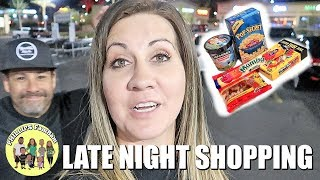 LATE NIGHT SNACK SHOPPING at ALBERTSONS for KIDS MOVIE NIGHT SNACKS | PHILLIPS FamBam Vlogs