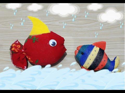 Pratik severek yapacağınız Çoraptan kırmızı balık  yapımı