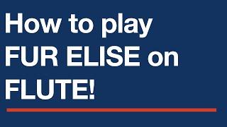 Free flute sheet music - Fur Elise