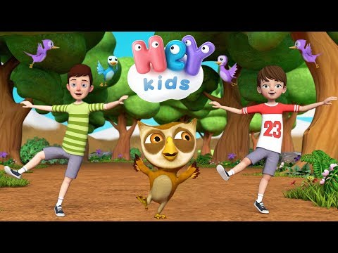 HeyKids – Dans la fort lointaine  Coucou hibou | Chanson bb – HeyKids – Cantece pentru copii in limba franceza